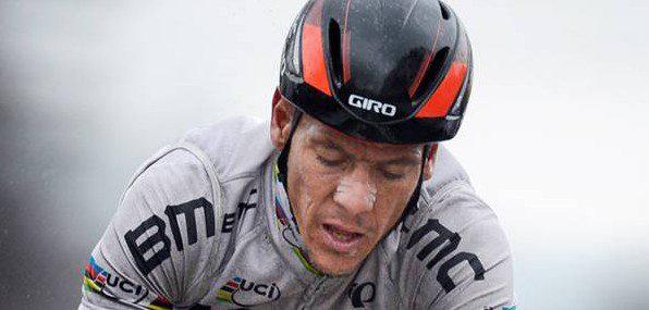 En difficulté, Philippe Gilbert n'aura jamais su tirer son épingle du jeu sur les ardennaies 2013 – Photo Belga
