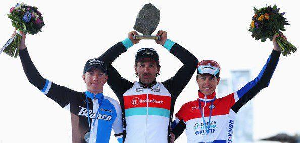 Sur le podium de Roubaix, Sep Vanmarcke prenait place aux côtés de Fabian Cancellara - Photo Blanco Pro Cycling