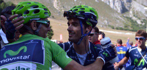 Sur le dernier Tour d'Espagne, Beñat Intxausti a été d'une aide précieuse pour Alejandro Valverde - Photo Movistar