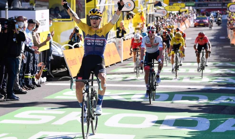 Primoz Roglic règle tous les favoris au sommet ce mardi et conclut le travail du train jaune. Photo : ASO/Tour de France