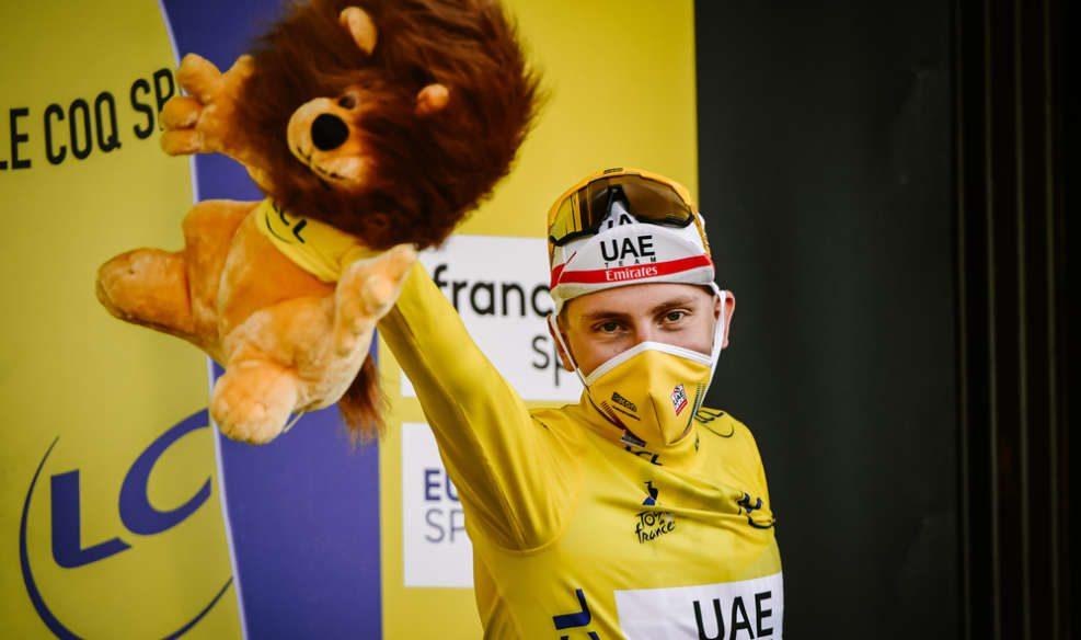 Tadej Pogacar remporte à 21 ans le Tour de France, le plus jeune vainqueur depuis 1904. Photo : ASO/P. Ballet