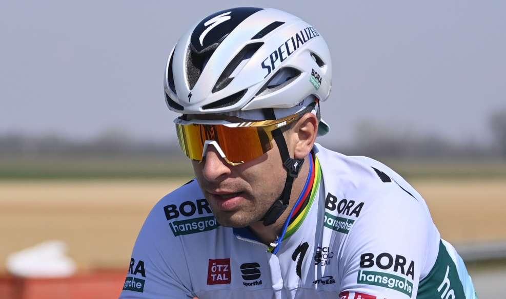 Peter Sagan a retrouvé des couleurs en arrachant une 4ème place sur la Via Roma ce samedi. Photo : RCS